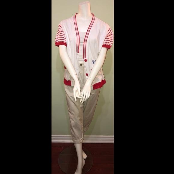 Vintage short sleeve cardigan